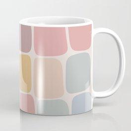 Minimal Blocks - Pastel Rainbow Coffee Mug
