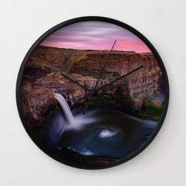 Palouse Falls Wall Clock