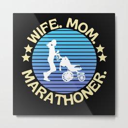 Wife Mom Marathoner Metal Print
