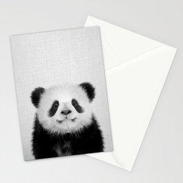 Panda Bear - Black & White Stationery Cards