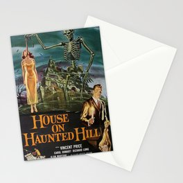 Vintage poster - House on Haunted Hill Stationery Cards