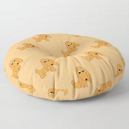 ORANGE PRETTY POOCH Floor Pillow