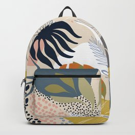 Tropical Foliage Pattern 1 - Retro Boho Backpack