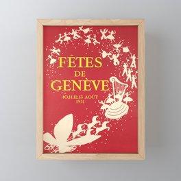 affiches fetes de geneve 1951 fetes de Framed Mini Art Print