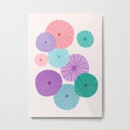 Sea Urchin in Mermaid Hues Metal Print