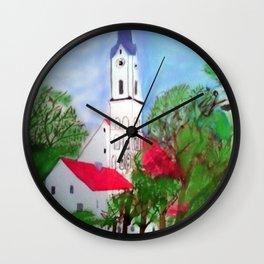 Kirche von Ergolding Wall Clock