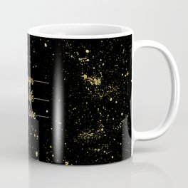 TEXT ART GOLD Design the life you love Coffee Mug