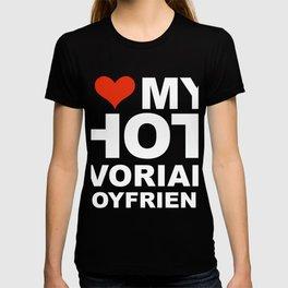 I Love my hot Ivorian Boyfriend Valentine's Day Ivory Coast T-shirt