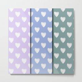 3x4 pastel Amor Metal Print