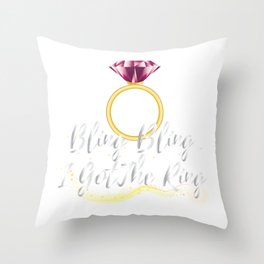Bride For Wedding - Bride To Be Throw Pillow