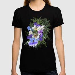 Jacaranda Blooms & Lily Wedding Bouquet T-shirt
