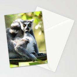 Funny Lemurs of Madagascar Monkey Business Stationery Cards
