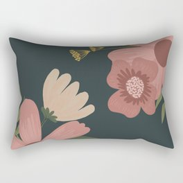 Classic Pink Florals Rectangular Pillow