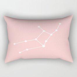 Virgo Star Sign Soft Pink Rectangular Pillow