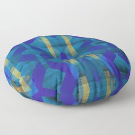 Bold Blue Midcentury Modern Floor Pillow