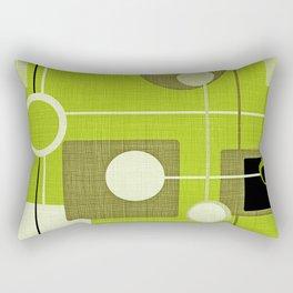 orbs and squares acid green Rectangular Pillow
