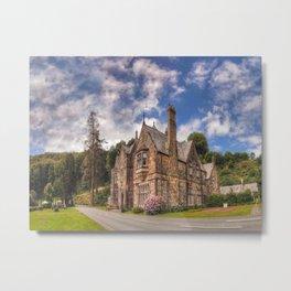 Gothic Victorian Mansion Metal Print