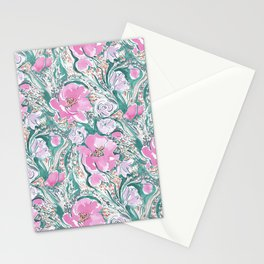 Ad Libitum Pink Teal Stationery Cards