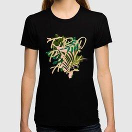 Tropical Dream, Jungle Nature Botanical Monstera Palm Leaves Illustration, Scandinavian Painting T-shirt