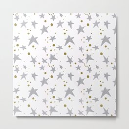 Stars and gold pattern Metal Print
