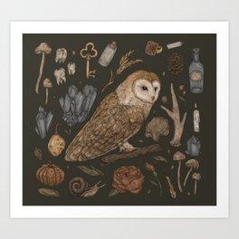 Harvest Owl Kunstdrucke