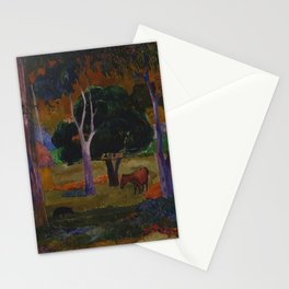 """Paul Gauguin """"Landscape with a Pig and a Horse (Hiva Oa)"""" Stationery Cards"""