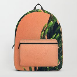 Large Fern Peach Texture Backpack