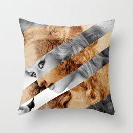 "Leonardo's ""Head of a Woman"" & Brigitte  Bardot Throw Pillow"