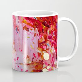 Hot pink, bright red, orange, gold - Abstract #30 Coffee Mug