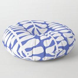 White seaweed plant pattern Floor Pillow