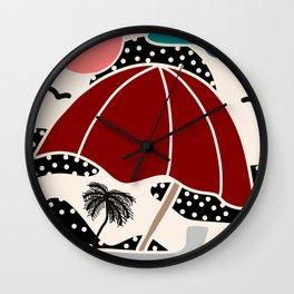 Polka Dot Beach Wall Clock