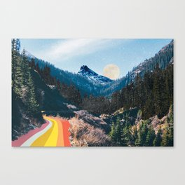 1960's Style Mountain Collage Leinwanddruck