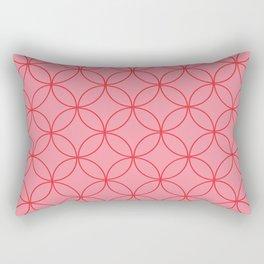 Moorish Circles - Pink & Red Rectangular Pillow