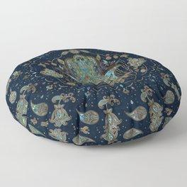 Hamsa Hand -Hand of Fatima Blue Gemstones Floor Pillow