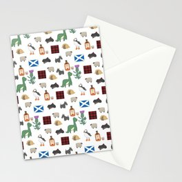 Famous Scottish Icons Pattern Stationery Cards