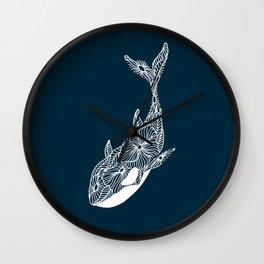 Blue Orca Wall Clock
