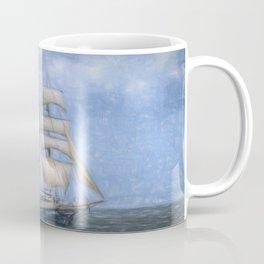 Sailing Ship Sketch Coffee Mug