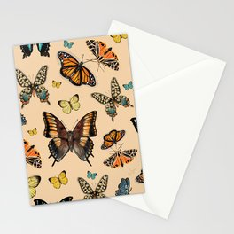 Inspirational butterflies & moths warm tones collection Stationery Cards
