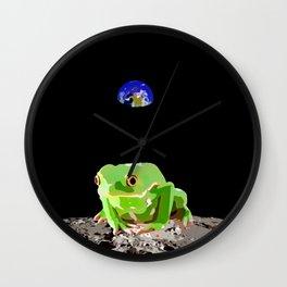 Moon Frog Wall Clock