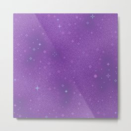 Purple Night Nebula Metal Print