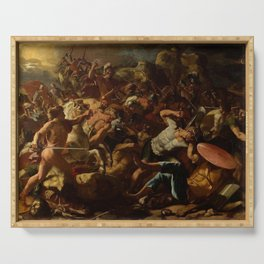 Nicolas Poussin - The Victory of Joshua over the Amorites Serving Tray