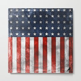American Flag Stars and Stripes Distressed Grunge 4th. July Metal Print
