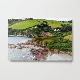 Talland Bay, Cornwall, England Metal Print