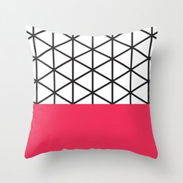 Pink Isodyctial Throw Pillow