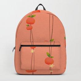 Peachy Orange String Backpack