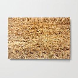Ein Bett im Kornfeld / a bed in the hay Metal Print