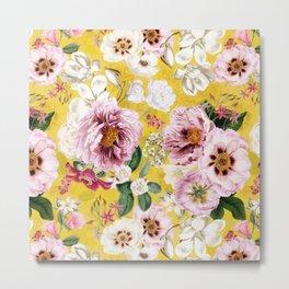 Vintage & Shabby Chic - Colorful Spring Flower Peony Botanical Garden Metal Print