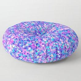 Modern pink navy blue teal abstract stars pattern Floor Pillow