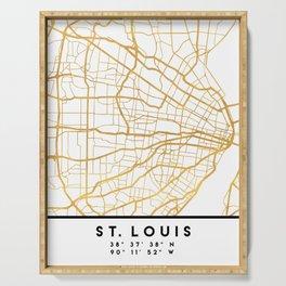 ST. LOUIS MISSOURI CITY STREET MAP ART Serving Tray