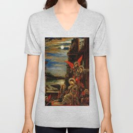 """Gustave Moreau """"St. Cecilia (The Angels Announcing her Coming Martyrdom)"""" Unisex V-Neck"""